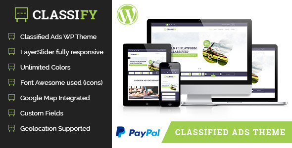 ThemeForest Classify Classified Ads WordPress Theme 8227813