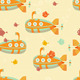 Underwater Submarine Seamless Pattern - GraphicRiver Item for Sale