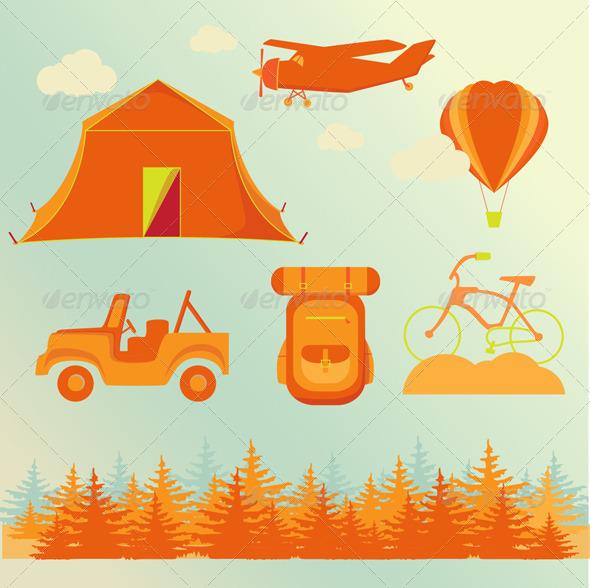 GraphicRiver Travel Summer Set 8437915