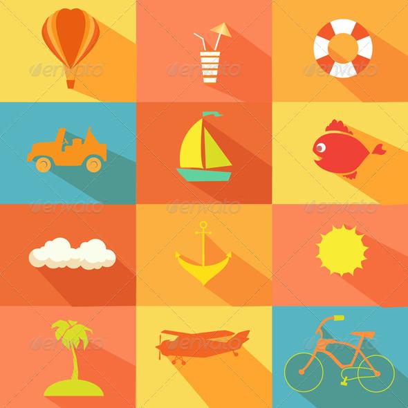 GraphicRiver Summer Elements Set 8437918