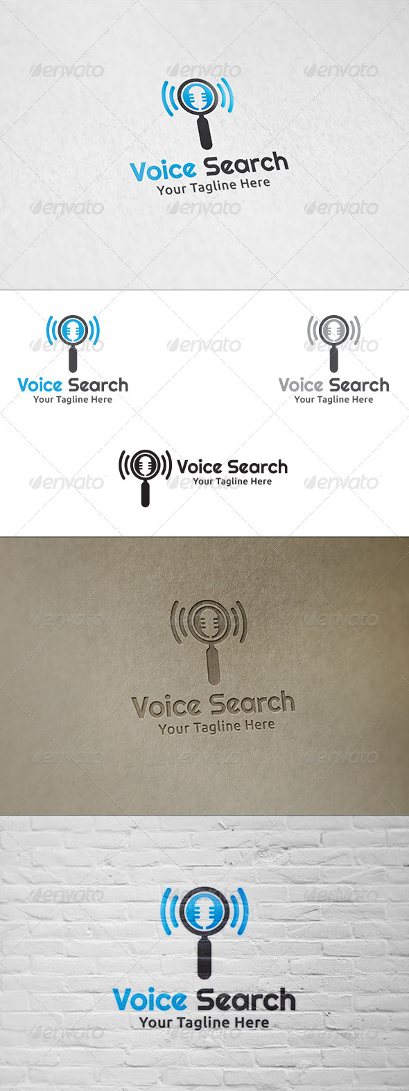 GraphicRiver Voice Search Logo Template 8438076