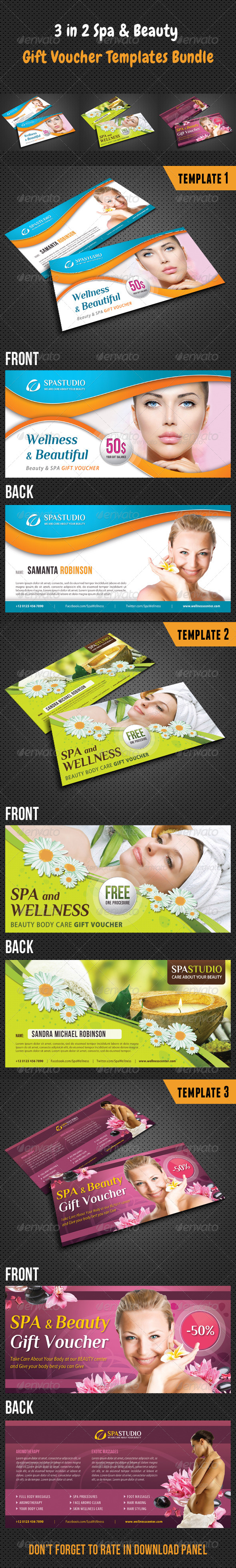GraphicRiver 3 in 1 Beauty and Spa Gift Voucher Bundle 01 8438247
