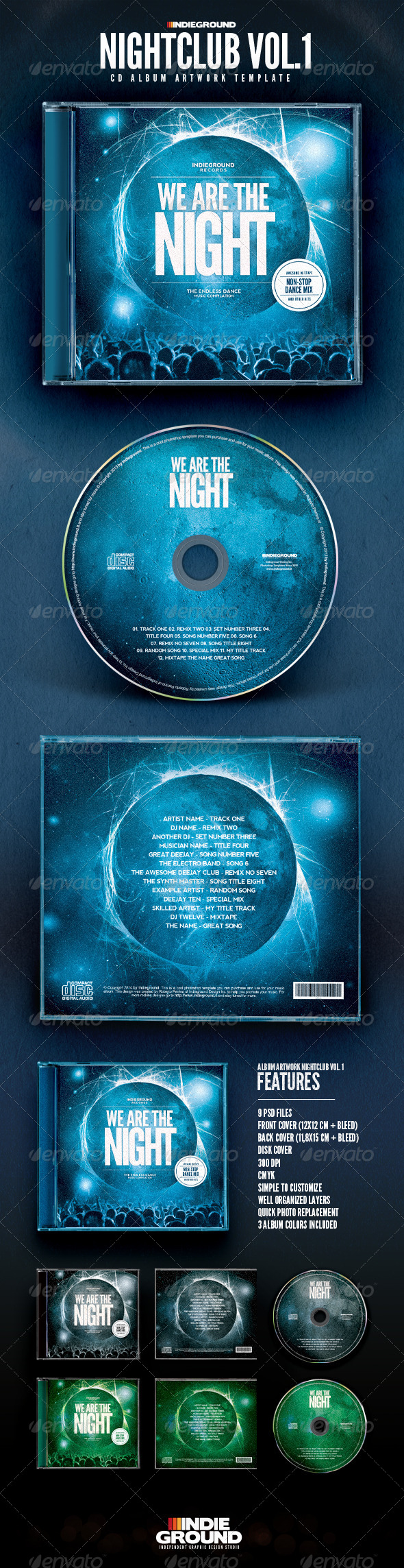 GraphicRiver Nightclub CD Album Artwork 8438305
