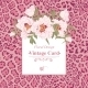 Vintage Greeting Card with Blooming Flowers - GraphicRiver Item for Sale