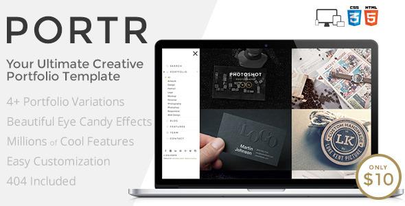 PORTR - Ultimate Creative Portfolio Template