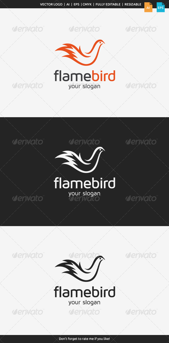 GraphicRiver Flame Bird Logo 8438497