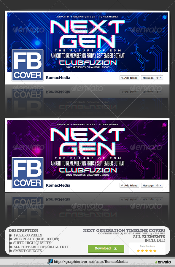GraphicRiver Next Generation Facebook Timeline Cover 8438522