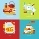 Flat Design Concept Icons For Cooking - GraphicRiver Item for Sale
