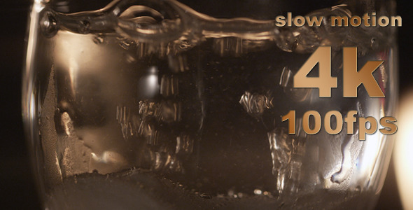 Slow Motion Particles Bubbles In Water 01