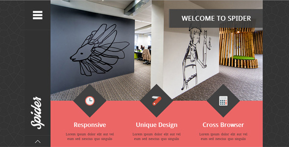 ThemeForest Spider Flat Creative Portfolio HTML Template 8102421