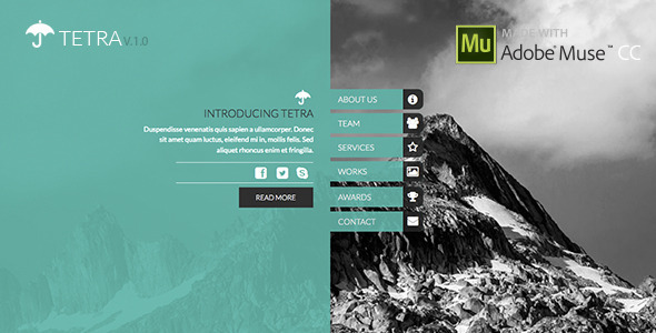 ThemeForest Tetra Adobe Muse Template 8234562