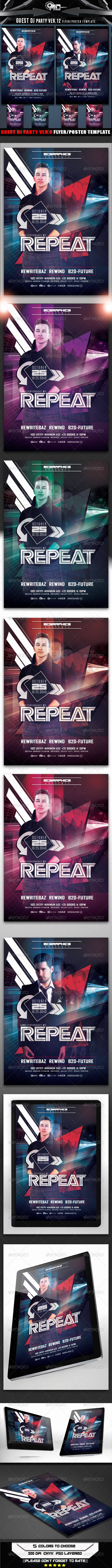 GraphicRiver Guest DJ Party Ver.12 Flyer Poster Template 8438872