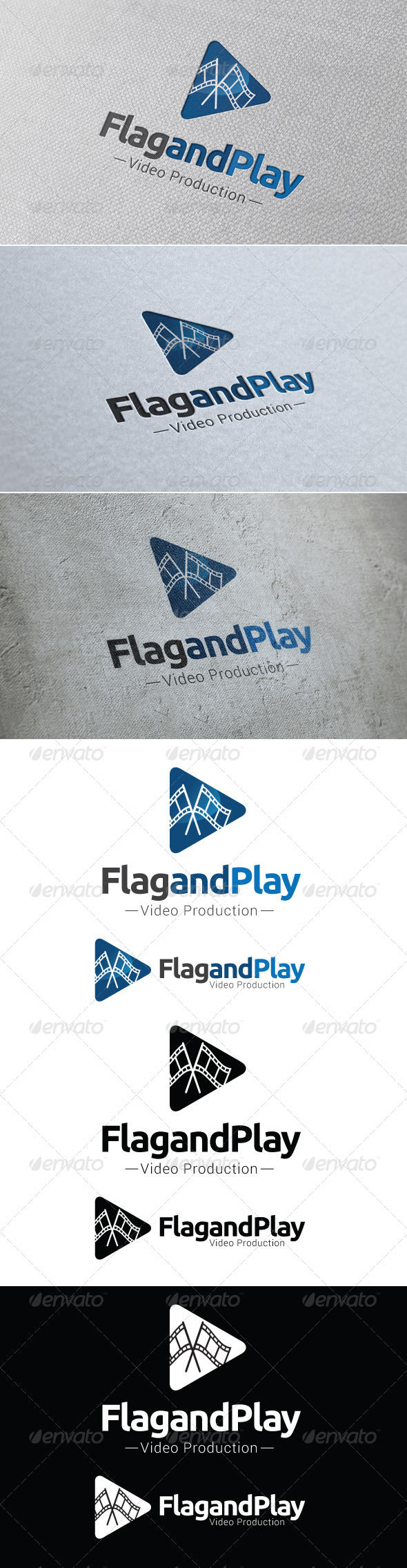 GraphicRiver Flag and Play Logo Template 8438879