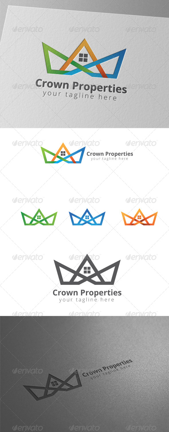 GraphicRiver Crown House Property Logo 8438880