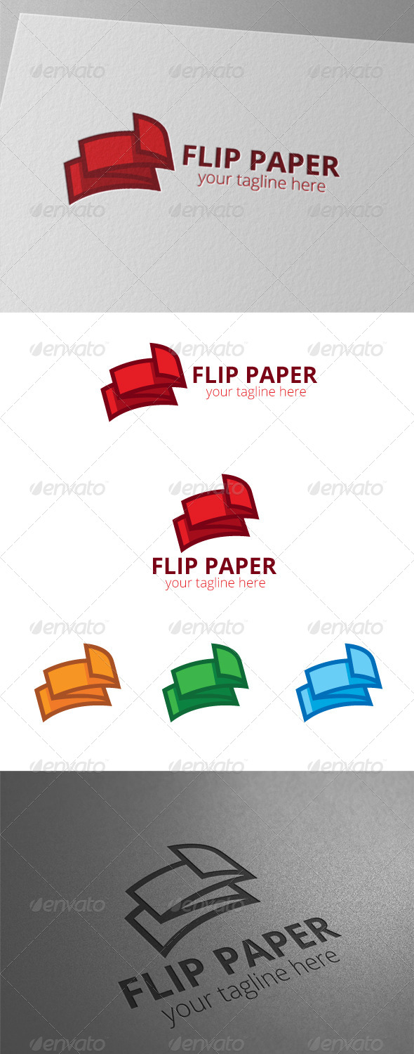 GraphicRiver Paper Flip Document Logo 8441648