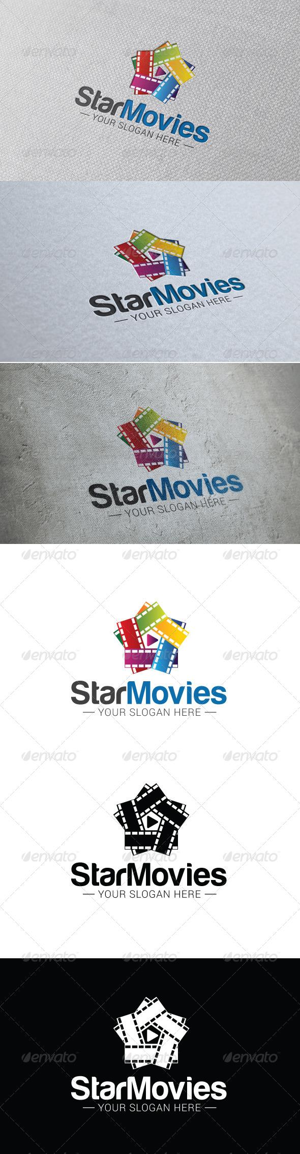 GraphicRiver Star Movie Logo Template 8443480