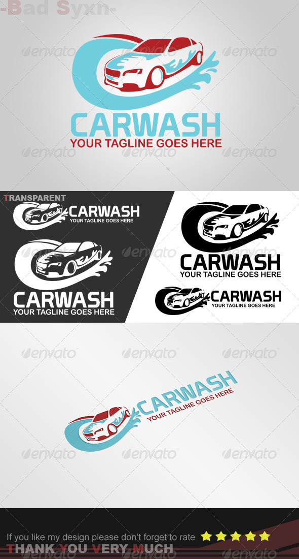 GraphicRiver Carwash Logo Template 8447107