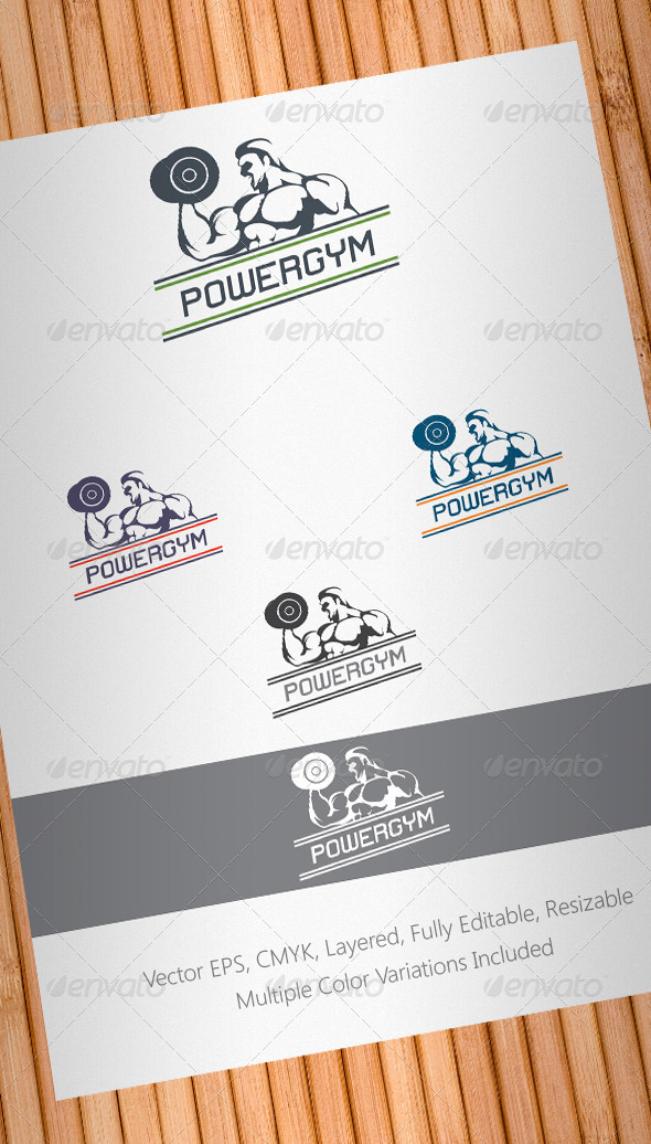 Power Gym Logo Template
