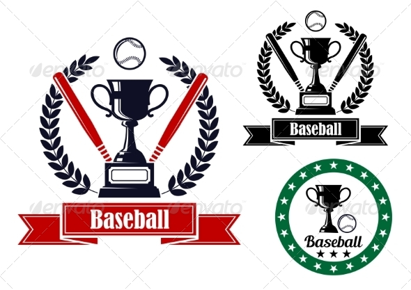 GraphicRiver Baseball Badges or Emblems 8447120