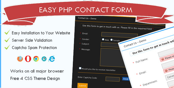 CodeCanyon Easy PHP Contact Form Script 8284762