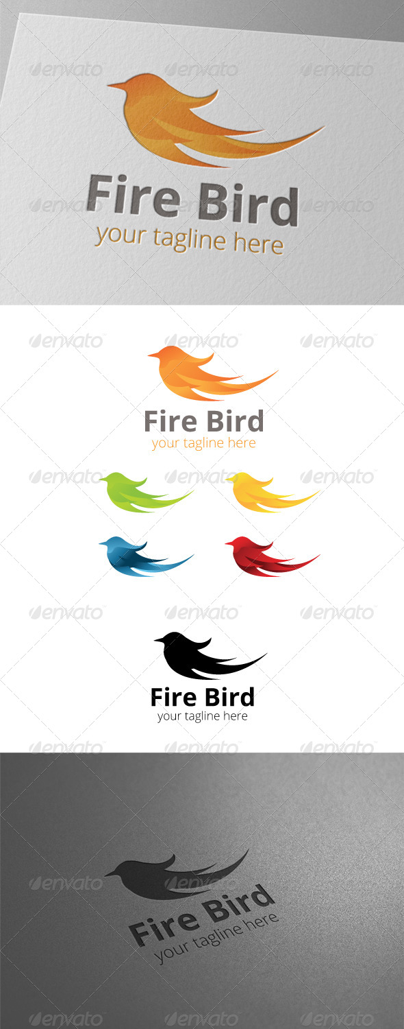 GraphicRiver Fire Bird Logo 8448020