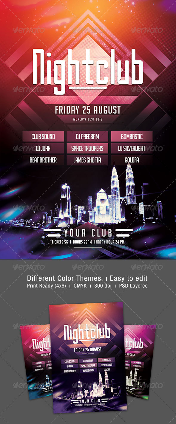 Nightclub Flyer - Clubs & Parties Events