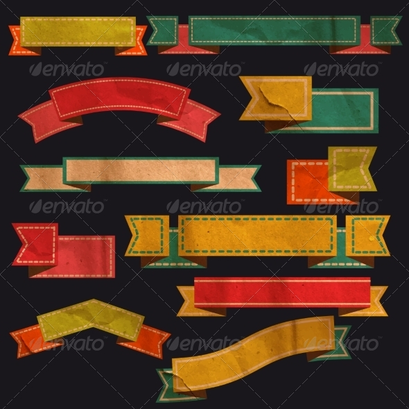 GraphicRiver Retro Ribbons 8448044