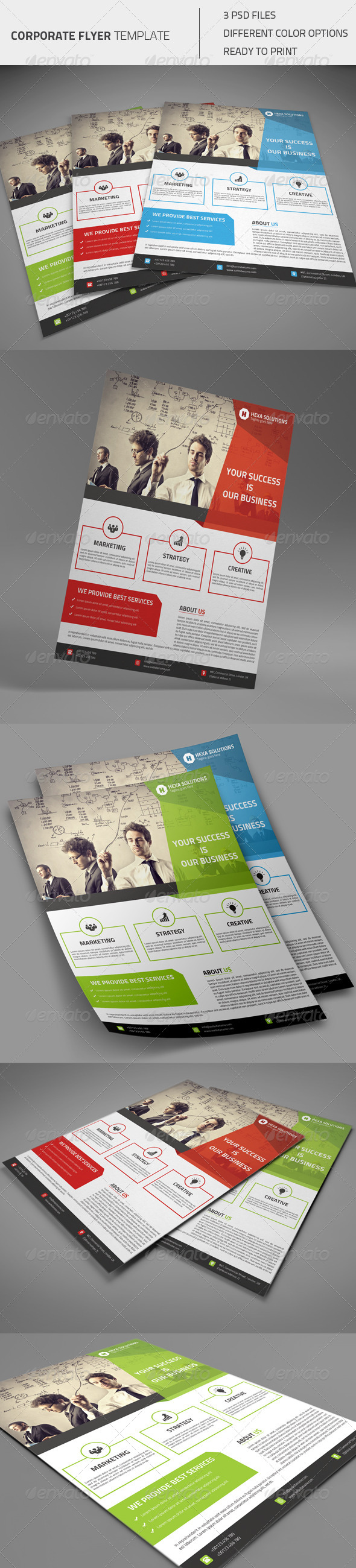 GraphicRiver Corporate Flyer 01 8448079