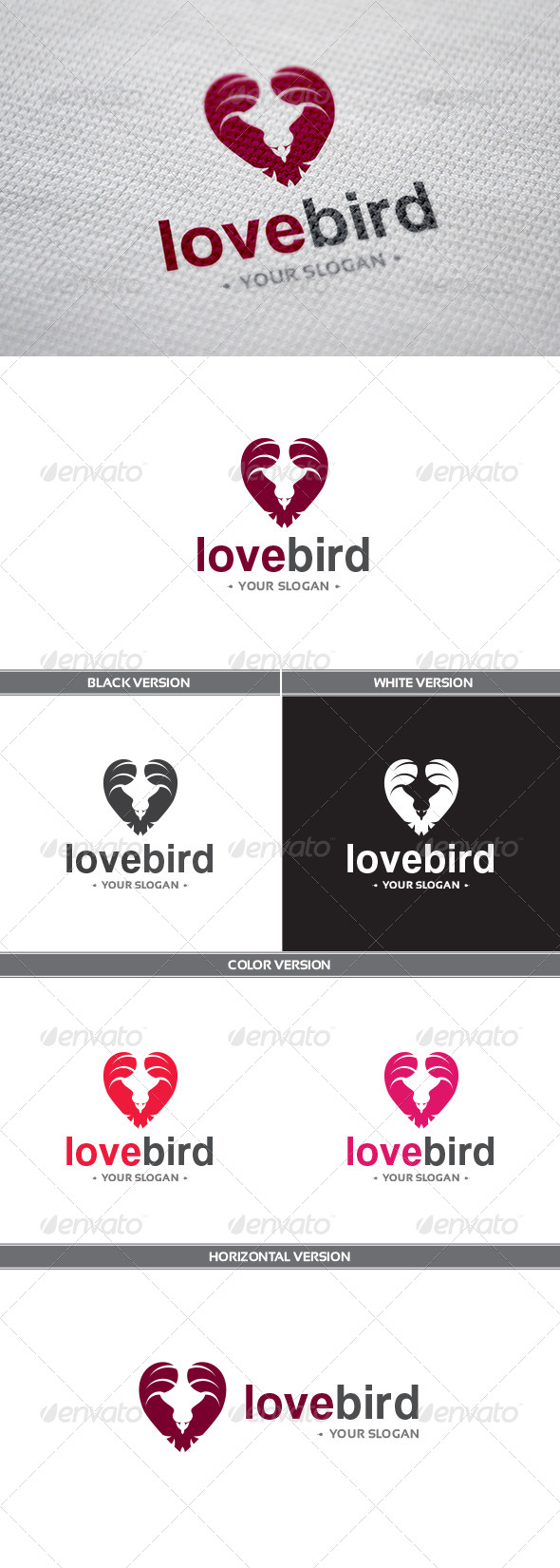 GraphicRiver LoveBird Logo 8448077