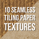 10 Tileable and Seamless Paper Photoshop Patterns - GraphicRiver Item for Sale