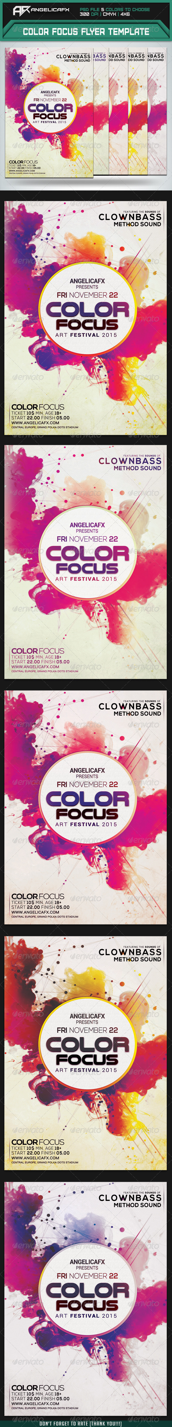 GraphicRiver Color Focus Flyer Template 8448115