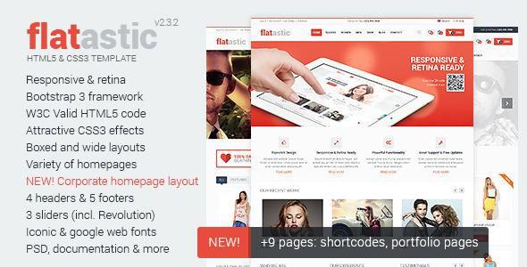 Flatastic - Ecommerce HTML Template