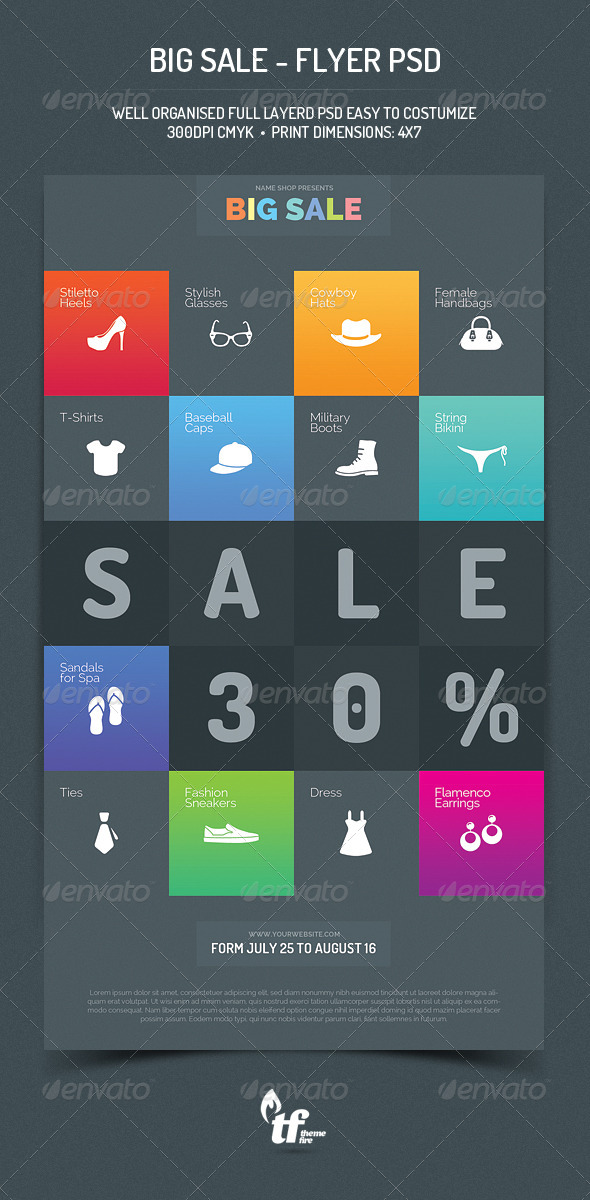 GraphicRiver Big Sale Flyer PSD Template 8433708