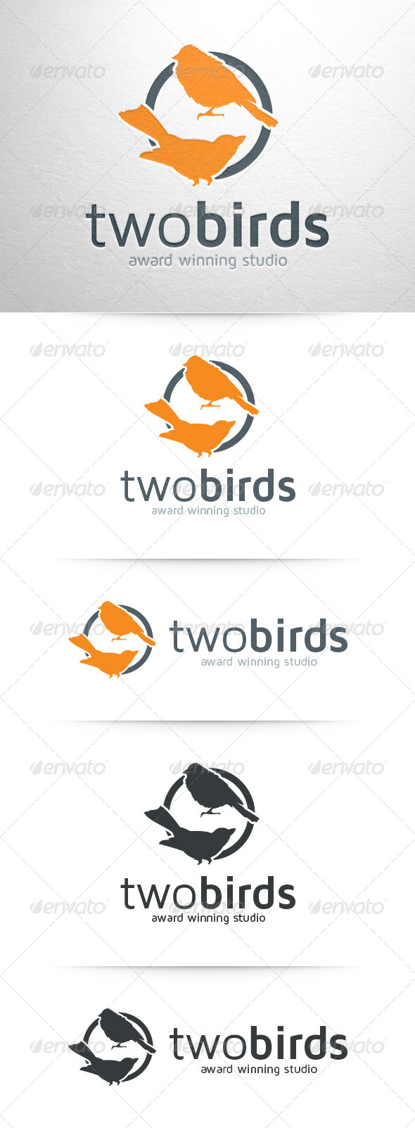 GraphicRiver Two Birds Logo Template 8454151
