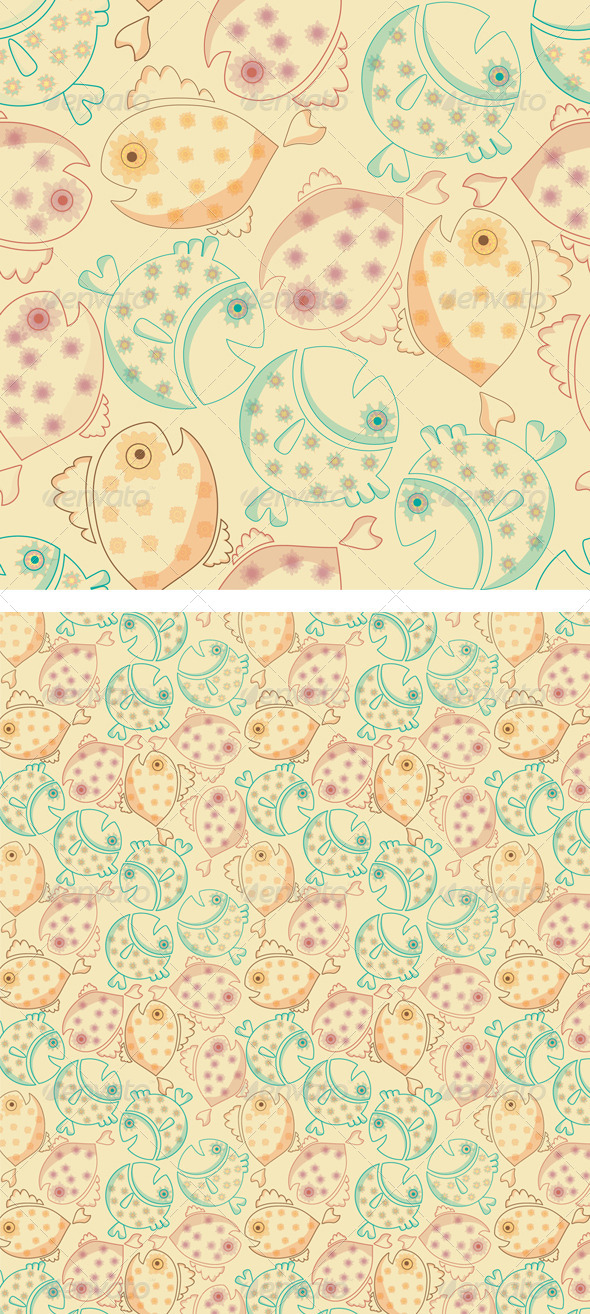 GraphicRiver Fish Pattern 8454156