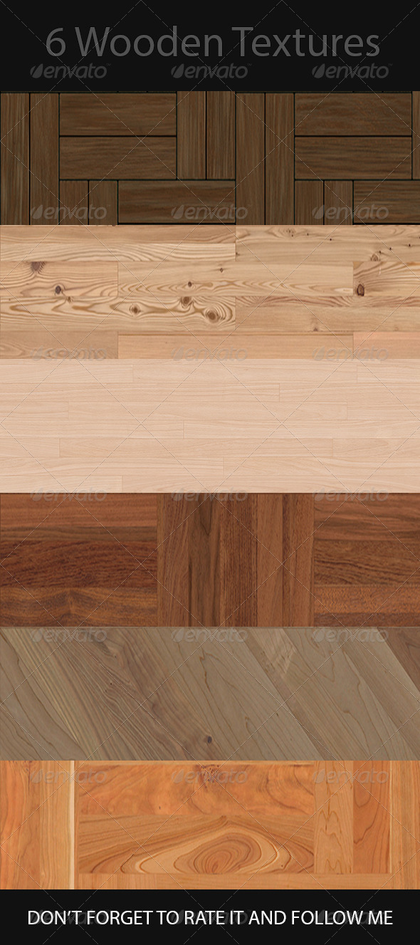 GraphicRiver 6 Seamless Photo-Realistic Wood Textures 72DPI 8411763