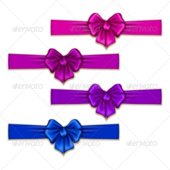 GraphicRiver Set of Silk Colored Bows 8454200