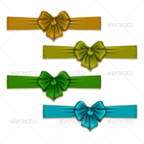 GraphicRiver Set of Silk Colored Bows 8454203