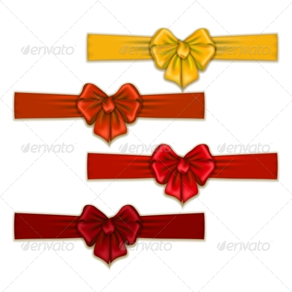 GraphicRiver Set of Silk Colored Bows 8454209
