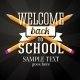 Welcome Back to School Greeting with Two Crossed Pencils - GraphicRiver Item for Sale