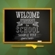 School Chalkboard with Greeting Welcome Back - GraphicRiver Item for Sale