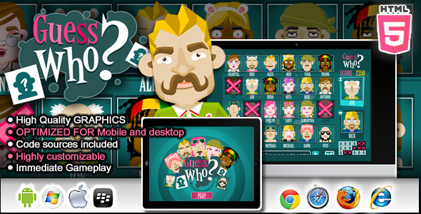 CodeCanyon Guess Who HTML5 Game 8454226