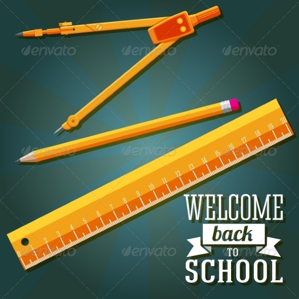 GraphicRiver Welcome Back to School Greeting Card 8454232