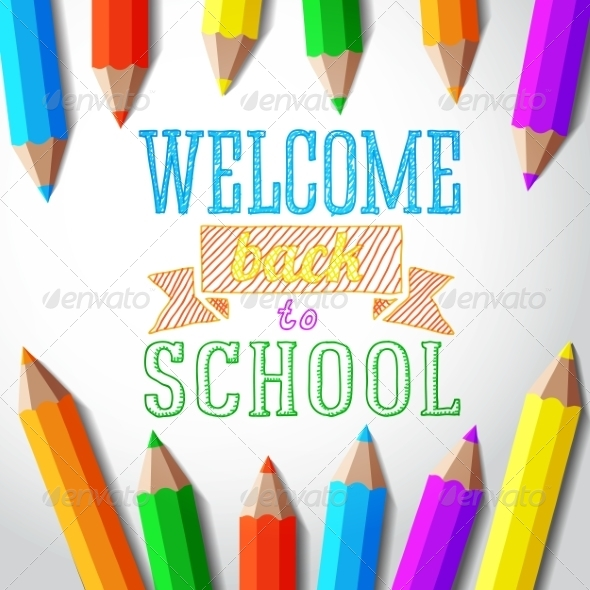 GraphicRiver Welcome Back to School Hand-Drawn Greeting 8454264