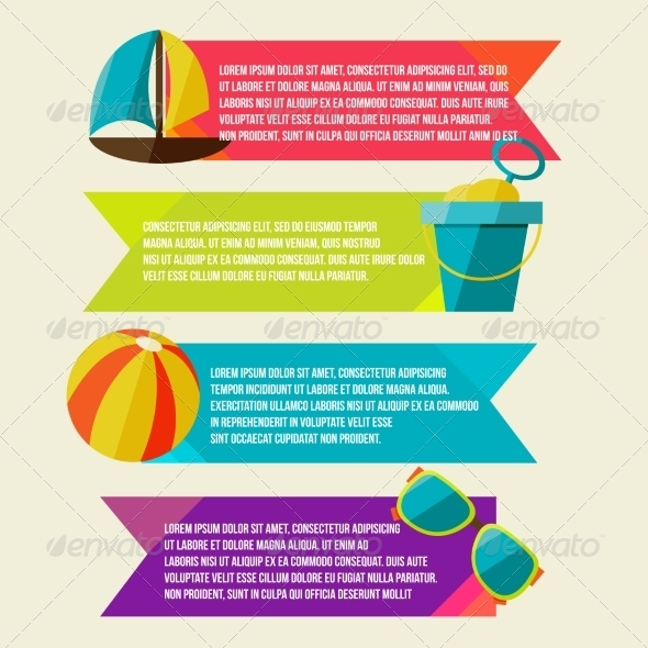 GraphicRiver Collection of Banners with Summer Design Elements 8454266