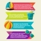 Collection of Banners with Summer Design Elements - GraphicRiver Item for Sale