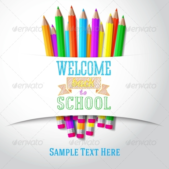 GraphicRiver Welcome Back to School Hand-Drawn Greeting 8454268