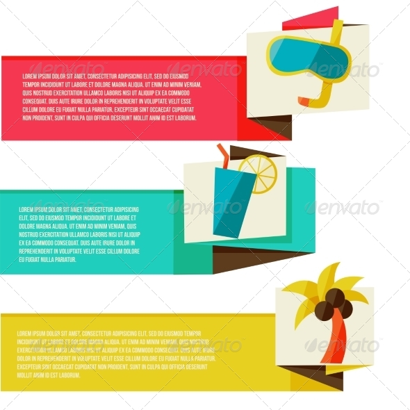 GraphicRiver Collection of Banners with Summer Design Elements 8454270