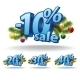 Blue Inscription Percentage - GraphicRiver Item for Sale