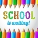 School is Waiting - Hand Drawn Lettering  - GraphicRiver Item for Sale